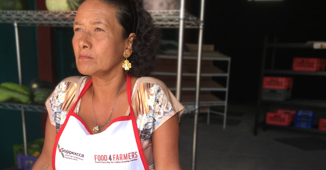 Elijia del Tránsito Valerio is a member of Food 4 Farmers' successful organic farmers market program with SOPPEXCCA, a cooperative in Nicaragua.